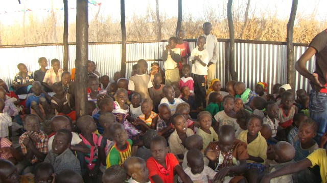 children in the newly built centre.jpg
