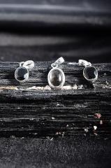Rauchquarz Silber Anhänger