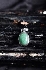 Smaragd Silber Anhänger