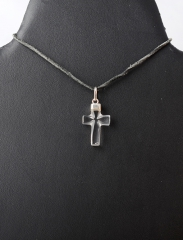 Anhänger Bergkristall Kreuz