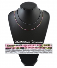 Turmalin Multi Colour Kette