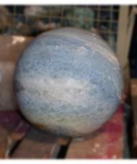 Calcit Blau Kugel (jumbo) [Einzelstück]
