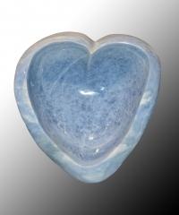 Calcit blau Herzschale [Einzelstück]