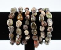 Jaspis Trommelstein Armband