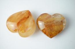 Bergkristall gelb Herz
