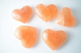 Selenit orange Herz