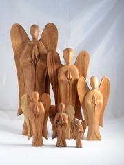 Engel Suar Holz 25 cm